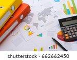 business or finance background. ... | Shutterstock . vector #662662450