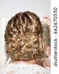 beauty wedding hairstyle... | Shutterstock . vector #662670550
