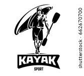 kayak. sport emblem | Shutterstock .eps vector #662670700