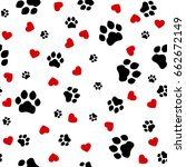 paw print seamless. traces of... | Shutterstock .eps vector #662672149