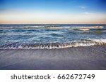 beach and beautiful tropical... | Shutterstock . vector #662672749