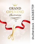 grand opening invitation card... | Shutterstock . vector #662683759