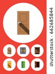 flat icon approach set of frame ... | Shutterstock .eps vector #662685844