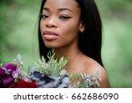 portrait of stunning afro...   Shutterstock . vector #662686090