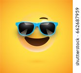 yellow 3d smiley with... | Shutterstock .eps vector #662687959