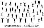 people silhouettes  go and... | Shutterstock .eps vector #662688124