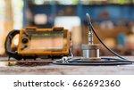 ultrasonic test to detect... | Shutterstock . vector #662692360