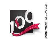 anniversary emblems 100...   Shutterstock .eps vector #662692960
