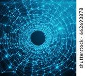abstract futuristic speed... | Shutterstock . vector #662693878