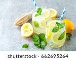 lemonade or mojito cocktail... | Shutterstock . vector #662695264