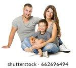 family over white background ... | Shutterstock . vector #662696494