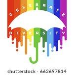 celebrate diversity concept... | Shutterstock .eps vector #662697814