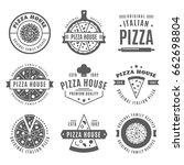 vintage pizzeria design... | Shutterstock .eps vector #662698804