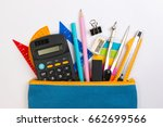 student pencil bag or pencil... | Shutterstock . vector #662699566