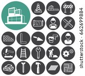 construction icons set.vector... | Shutterstock .eps vector #662699884