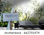 sign in the park walking way...   Shutterstock . vector #662701474