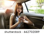 young asian woman use...   Shutterstock . vector #662702089