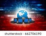 3d rendering computer network | Shutterstock . vector #662706190