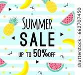 summer sale design template.... | Shutterstock .eps vector #662707450