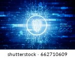 2d illustration security...   Shutterstock . vector #662710609