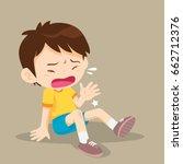 sad boy having bruises on his... | Shutterstock .eps vector #662712376