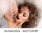 beauty valentine's day woman... | Shutterstock . vector #662713438