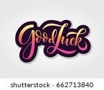 hand sketched good luck t shirt ... | Shutterstock .eps vector #662713840