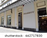 Small photo of TURIN, ITALY, CIRCA JUNE 2017: the window shop of Alcott, a famous Italian clothing fast fashion retail.