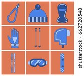 set of icons in flat design... | Shutterstock .eps vector #662720548
