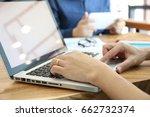 teamwork   hand multitasking... | Shutterstock . vector #662732374