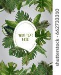 vector exotic leaves frame | Shutterstock .eps vector #662733310