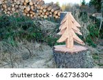 Christmas Tree Sawn Out From...