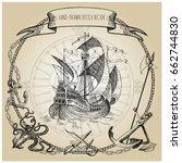 adventure stories. pirate... | Shutterstock .eps vector #662744830