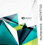 3d triangle polygonal abstract... | Shutterstock .eps vector #662747710