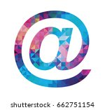 colorful at sign icon isolated... | Shutterstock . vector #662751154