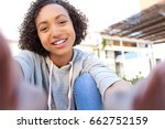 beautiful joyful african... | Shutterstock . vector #662752159