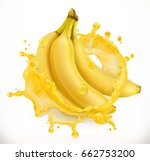 banana juice. fresh fruit  3d... | Shutterstock .eps vector #662753200