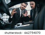 top sales manager and customer...   Shutterstock . vector #662754070