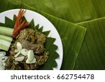 hot and spicy pork liver salad  ... | Shutterstock . vector #662754478