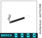 cigarette icon flat. simple... | Shutterstock . vector #662761288