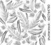 vector seamless pattern.... | Shutterstock .eps vector #662764780