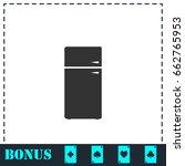 refrigerator icon flat. simple... | Shutterstock . vector #662765953