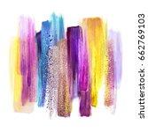 abstract watercolor brush... | Shutterstock . vector #662769103
