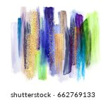 abstract watercolor brush... | Shutterstock . vector #662769133