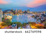 downtown sydney skyline in... | Shutterstock . vector #662769598