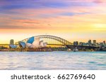 downtown sydney skyline in... | Shutterstock . vector #662769640