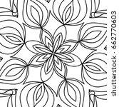 oriental floral pattern. vector ...   Shutterstock .eps vector #662770603