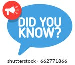 did you know badge vector with... | Shutterstock .eps vector #662771866