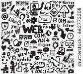 web doodles set | Shutterstock .eps vector #662772208