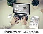 business  technology and... | Shutterstock . vector #662776738